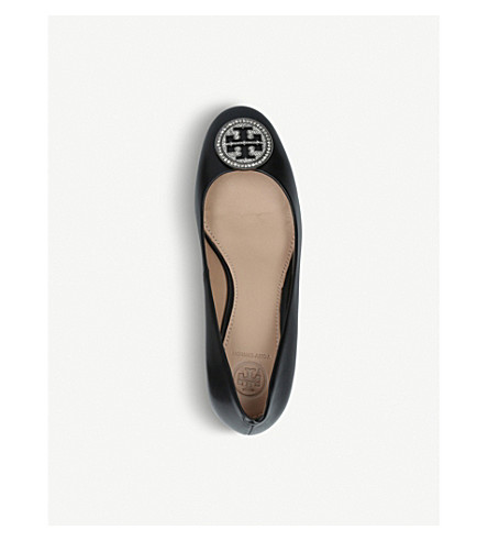 TORY BURCH Liana 45 leather courts (Black