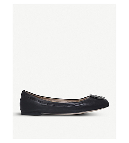 TORY BURCH Liana leather ballerina flats (Black