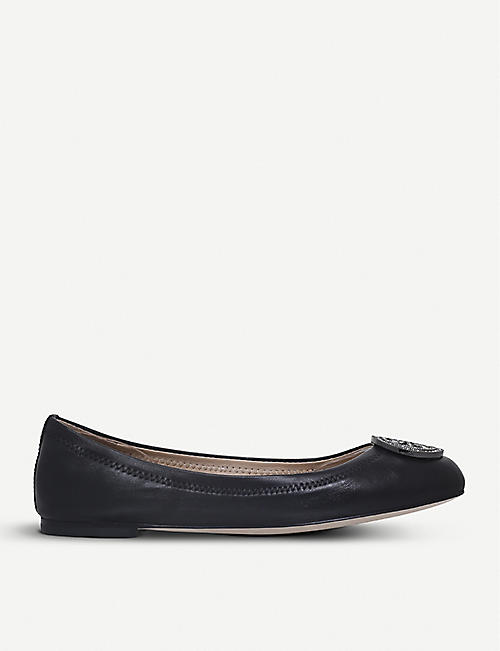 TORY BURCH Liana leather ballerina flats