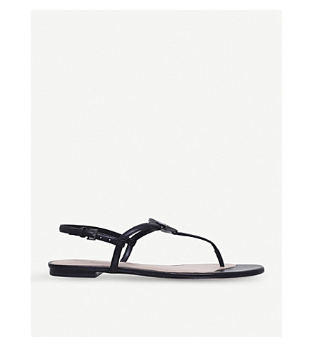 TORY BURCH Liana flat leather sandals (Black