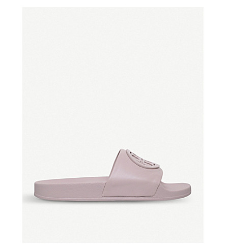 TORY BURCH Liana leather sliders (Pink+comb