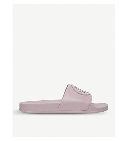 TORY BURCH Liana leather sliders (Pink+comb