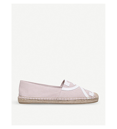 TORY BURCH Poppy cotton and raffia espadrilles (Pale+pink