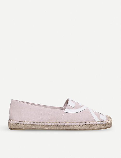 TORY BURCH Poppy cotton and raffia espadrilles