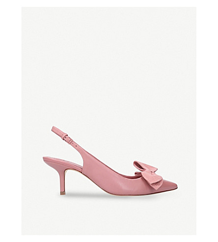 TORY BURCH Rosalind leather slingback courts (Pale+pink
