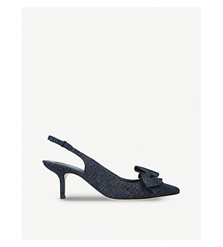 TORY BURCH Rosalind leather slingback courts (Denim