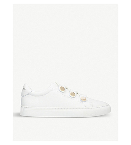 KURT GEIGER LONDON Larnie lace-up leather trainers (White