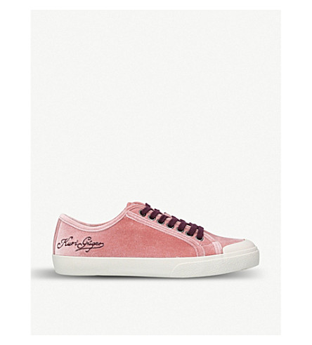 KURT GEIGER LONDON Levy suede low-top trainers (Nude