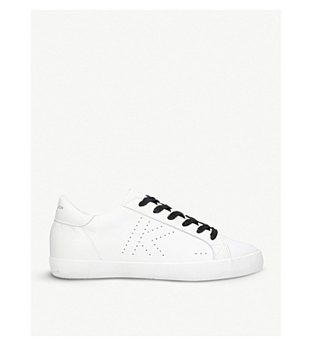 KURT GEIGER LONDON Leif 2 leather trainers (White/blk
