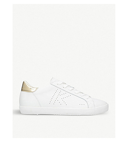 KURT GEIGER LONDON Leif 2 leather trainers (Gold