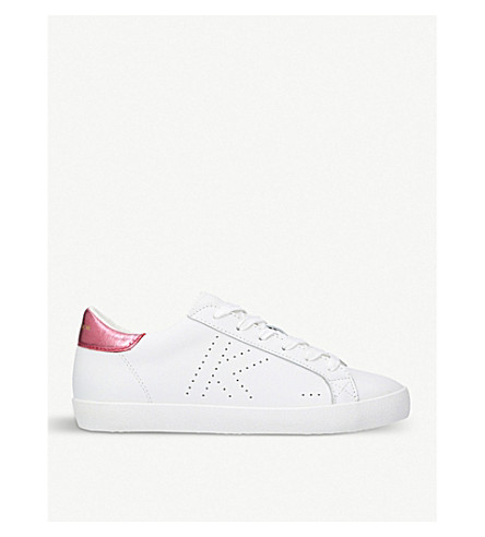 KURT GEIGER LONDON Leif 2 leather trainers (Pink