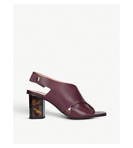 KURT GEIGER LONDON皮革步幅凉鞋70 (葡萄酒