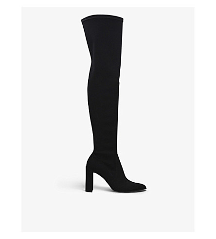 STUART WEITZMAN Hichamp over-the-knee micro-stretch boots (Black