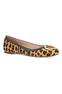 TORY BURCH Reva leopard ballerina flats