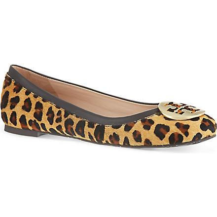 TORY BURCH Reva leopard ballerina flats (Brown/oth