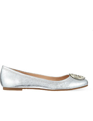 TORY BURCH Reva metallic pumps