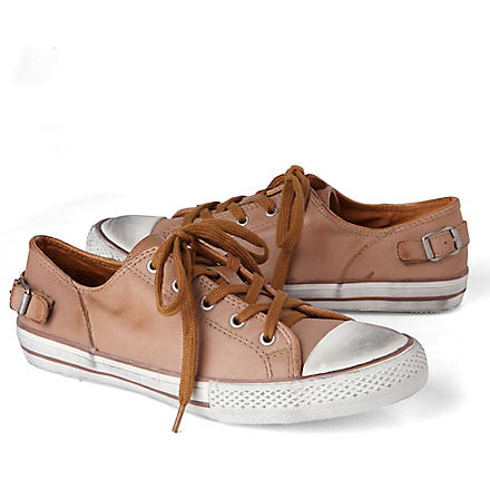 KURT GEIGER Louise leather trainers (Nude