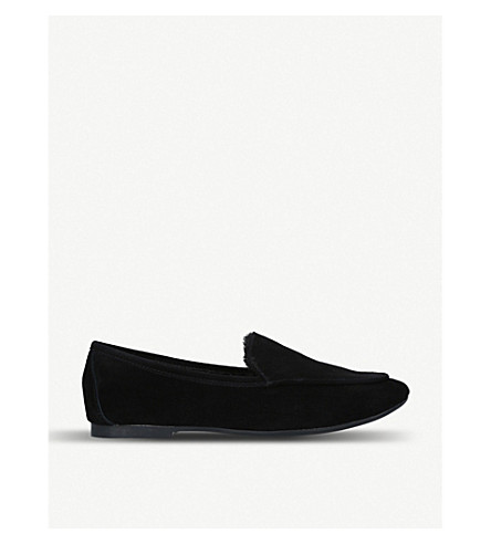 Kobi suede and faux-fur loafers