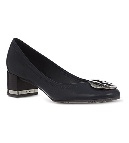 TORY BURCH Amy leather court shoes (Navy