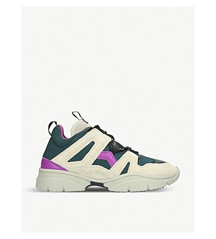 ISABEL MARANT Kindsay 皮革运动鞋 (汽油