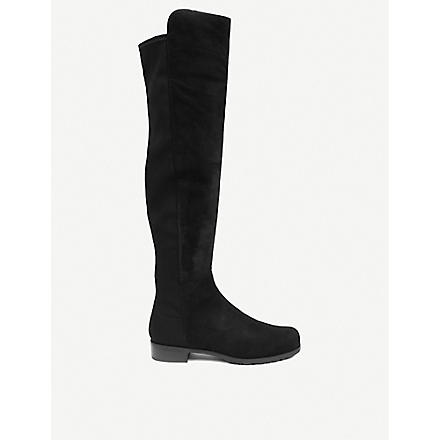 STUART WEITZMAN 5050 suede riding boots (Black