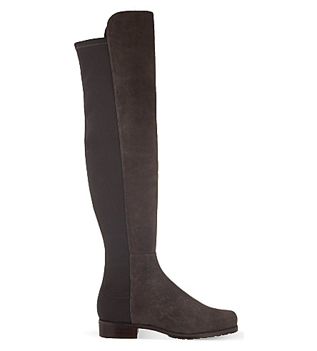 STUART WEITZMAN 5050 suede riding boots (Grey