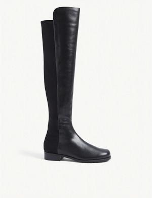 STUART WEITZMAN 50/50 suede knee high boots