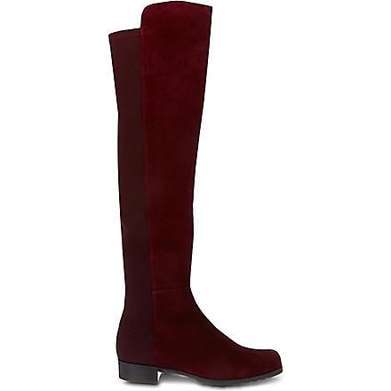 STUART WEITZMAN 50/50 knee high suede boots (Wine