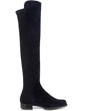 STUART WEITZMAN 50/50 knee high suede boots
