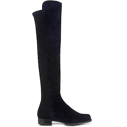 STUART WEITZMAN 50/50 knee high suede boots (Navy