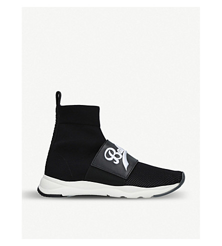 BALMAIN logo trainers embroidered Cameron sock Black BALMAIN Cameron v7d4xqv