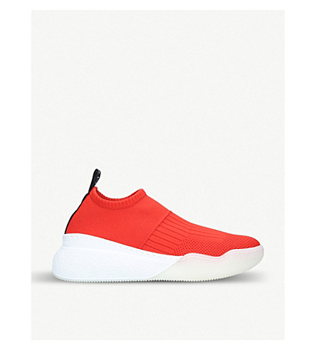 STELLA MCCARTNEY Loop stretch-knit trainers (Red