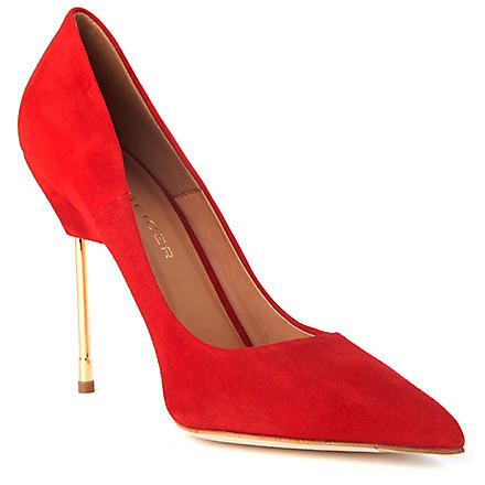 KURT GEIGER Britton suede court shoes (Red