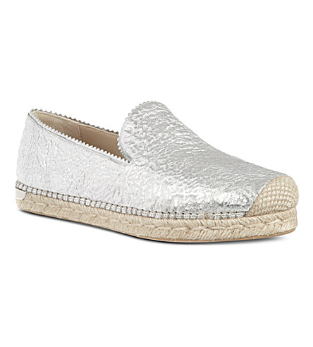 STUART WEITZMAN Biarritz metallic slip-on shoes (Silver