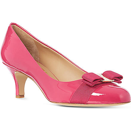 FERRAGAMO Carla 55 leather court shoes (Fushia