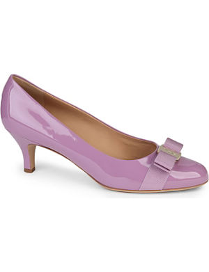 FERRAGAMO Carla patent court shoes
