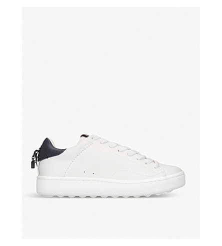 COACH Counter charm leather trainers (White/navy