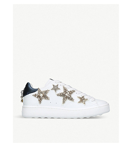 COACH Star-embellished leather trainers (White