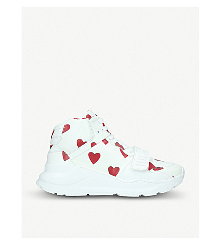 Regis heart-print leather trainers(2436499109)