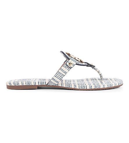TORY BURCH Miller striped sandals (Navy
