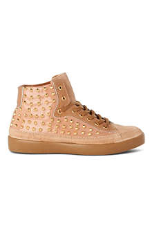 KURT GEIGER Lumiere studded high-top trainers