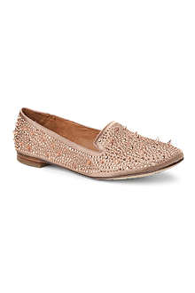 SAM EDELMAN Adena studded satin slippers