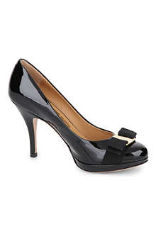 FERRAGAMO Tina patent-leather courts