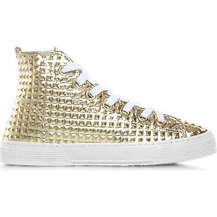 KURT GEIGER London Calling high-top trainers (Gold