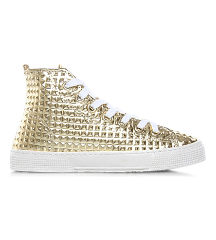 KURT GEIGER LONDON London Calling high-top trainers (Gold