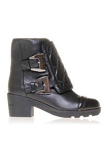 KURT GEIGER Smog leather biker boots
