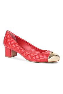 TORY BURCH Katlin quilted-leather mid-heel courts