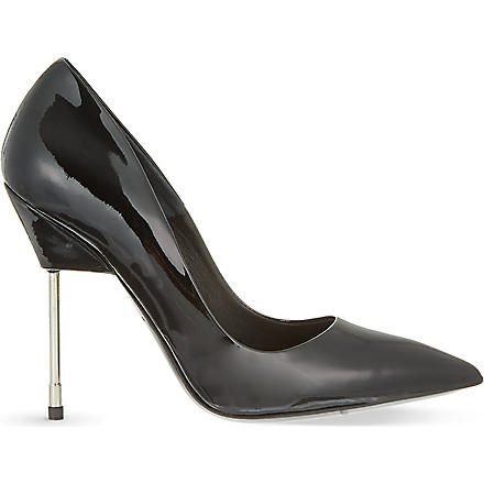 KURT GEIGER Britton patent leather courts (Black
