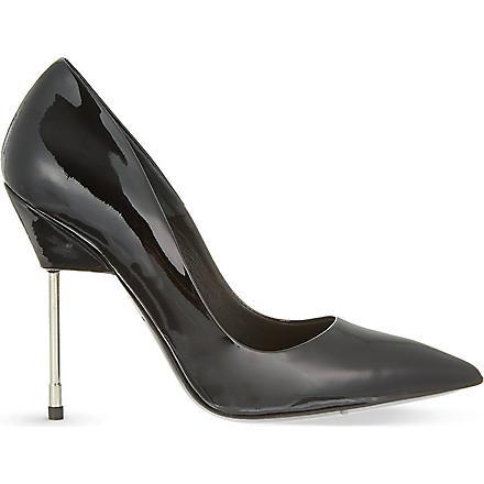 KURT GEIGER Britton patent leather courts (Black