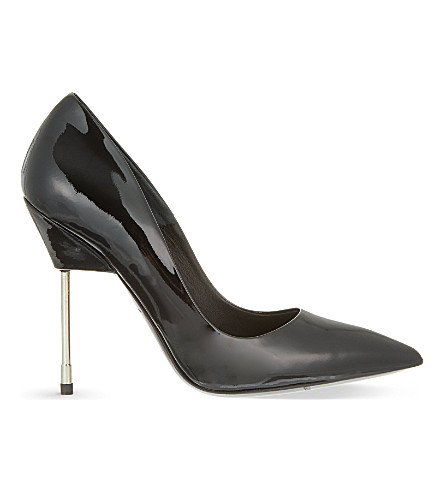 KURT GEIGER LONDON Britton patent leather courts (Black